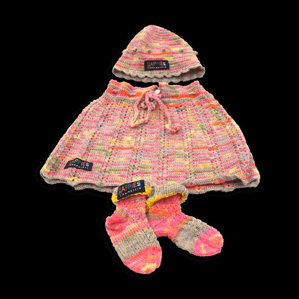 Babydress 3-teilig pastellfarben mit grau