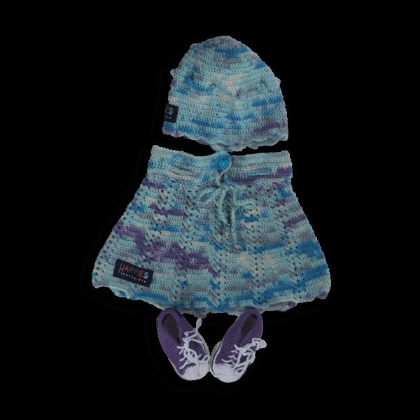 Babydress 2-teilig blau & mint Töne