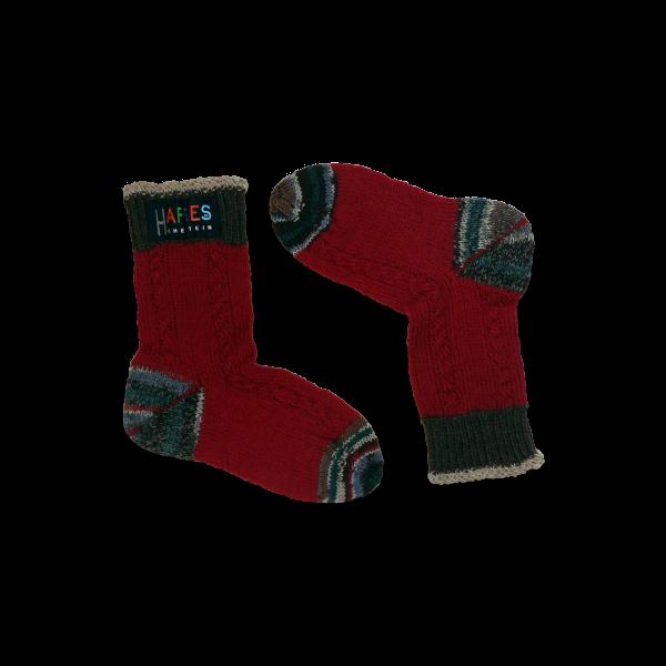 SCL.001 Socken klassisches Design dunkelrot