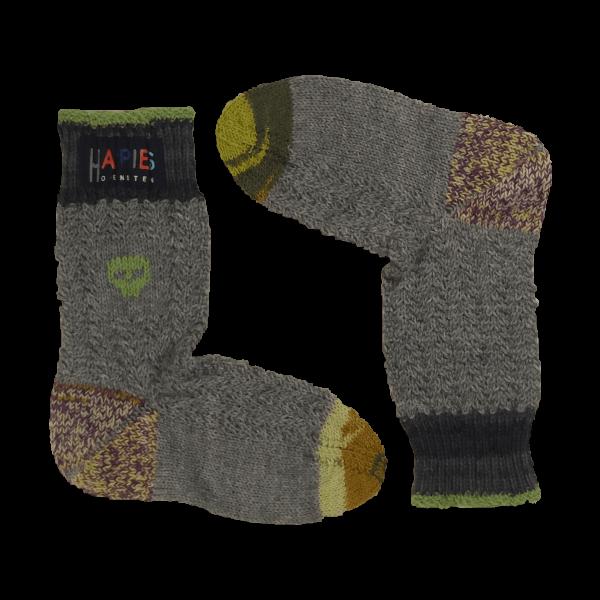Socken Motiv Totenköpfe hellgrün