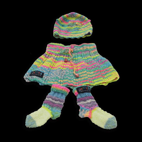 Babydress 3-teilig zartgelb & Pastelltöne