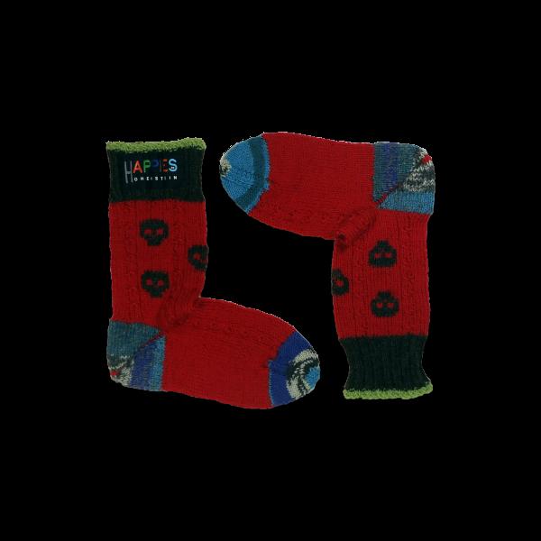 SSK.A.001 Socken Motiv Totenköpfe dunkelgrau