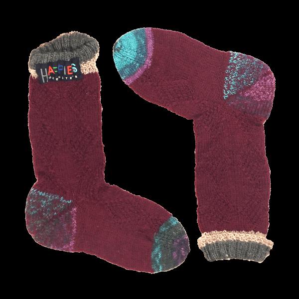 Socken klassisches Design weinrot