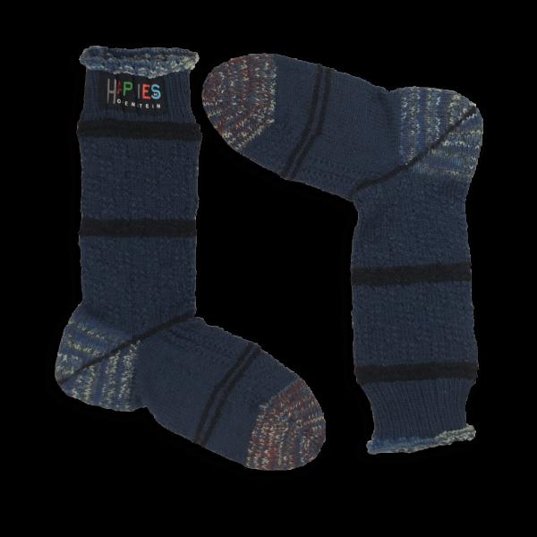 Stutzen klassisches Design jeansblau, aufwendiges Muster