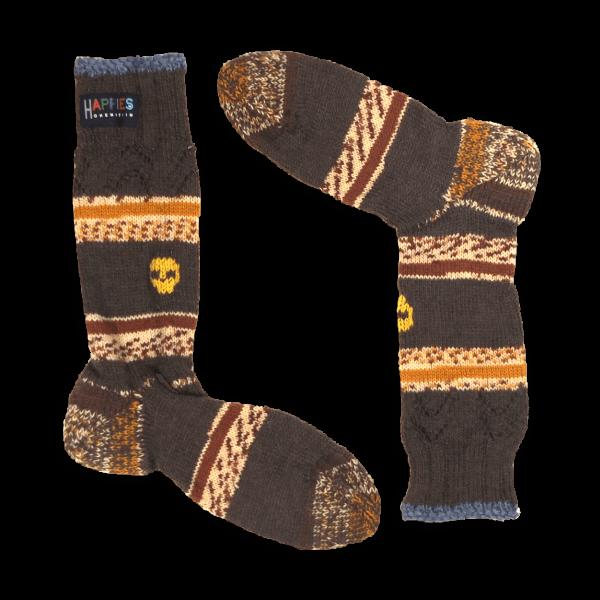 Socken Motiv Totenköpfe gelb
